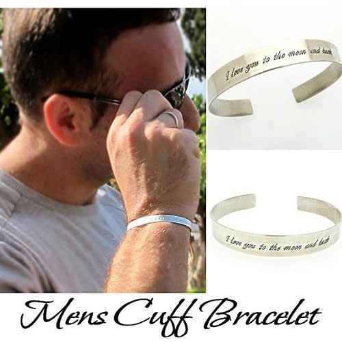 Amazon Com Sterling Silver Cuff Bracelet Mens