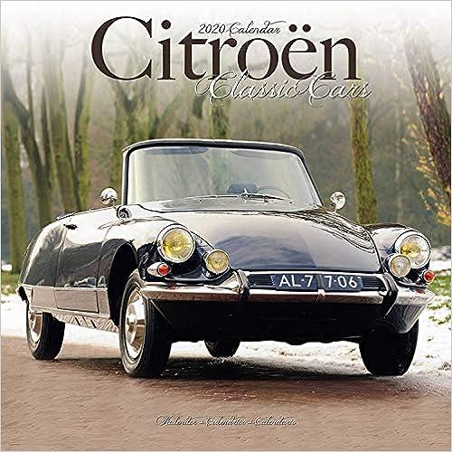 Citroen Classic Cars 2020 Wall Calendar