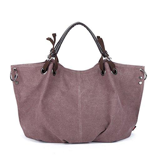 bolso violeta bolsa y caqui LKKLILY de bandolera handbag lona UpwwP5