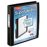 Cardinal SuperLife Pro Easy Open ClearVue Locking Slant-D Ring Binder, 1.5-Inch, Black (54661)