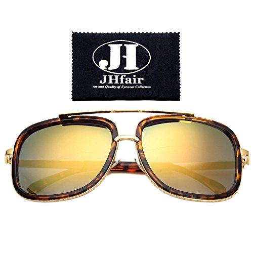 JHfair Square Aviator Fashion Mens Womens Sunglasses Brand - Glasses For Frames Men Brands