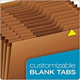 Globe-Weis/Pendaflex Heavy Duty Expanding File with Flap and Cord Closure, Letter Size, Brown