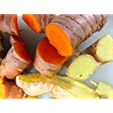 Fresh Organic Ginger & Organic Turmeric Roots combo 1lb Each