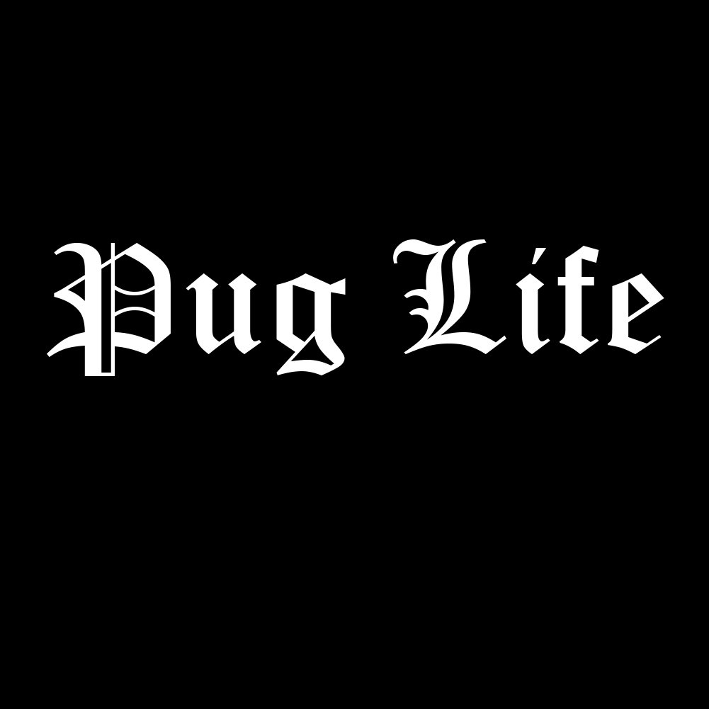 Amazon com funny pug life dog puppy thug life parody 6 vinyl sticker car decal 6 white automotive