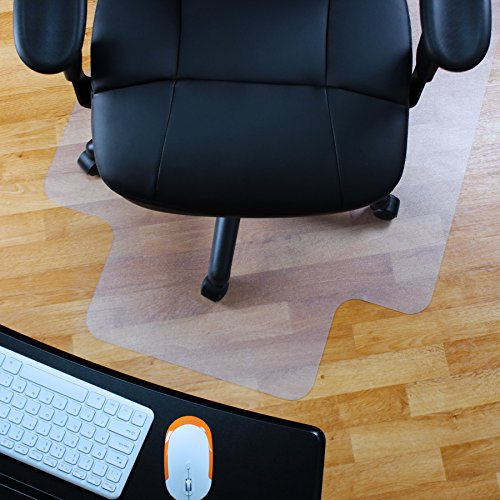 Marvelux 48'' x 51'' Vinyl (PVC) Lipped Chair Mat for Hard Floors | Transparent Hard Floor Protector| Multiple Sizes by Marvelux