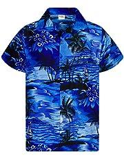King Kameha Hawaiiaans Overhemd Hawaii-Overhemd Shirt Heren Korte Mouw Voorvak Hawaiian Afdrukken Surfen