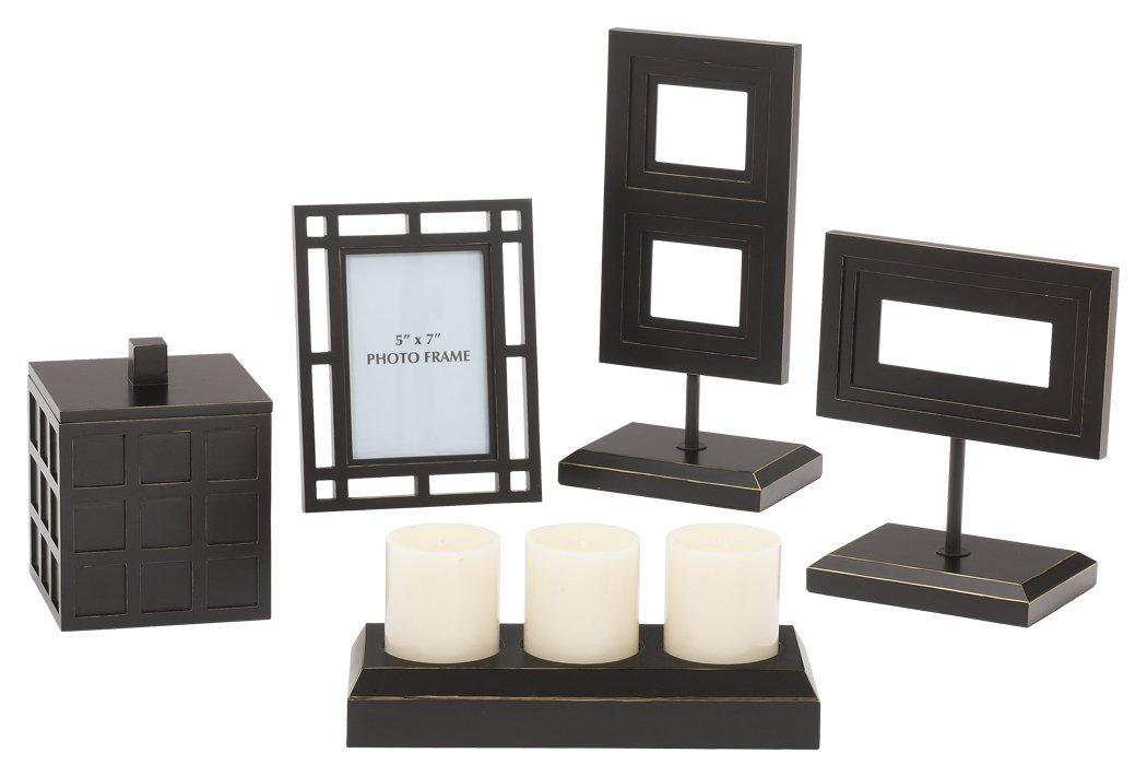 Ashley Furniture Signature Design Deidra - Juego de accesorios para muebles (5 unidades), color negro: Amazon.es: Hogar