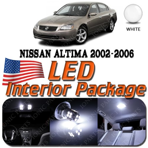 SUPER WHITE 9 Light Bulbs LED SMD Interior Package - Nissan Altima (2004 Upgrade Package)
