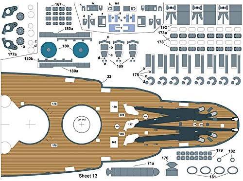 ELVVT 1 250 Arte de Papel de EE.UU BB-39 de Arizona del Acorazado de Alta dificultad Hecho a Mano de Creative Assembly DIY Rompecabezas Modelo de Juguete Regalos de recolecci/ón for Aficionados Ni/ño
