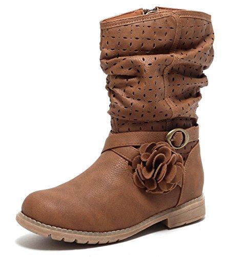 Mädchen Fashion Stiefel Bootie Boots HAZELNUT BROWN