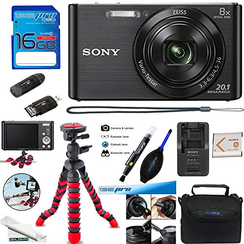 Sony DSC-W830 Digital Camera (Black) - Deal-Expo Essential Accessories Bundle ()