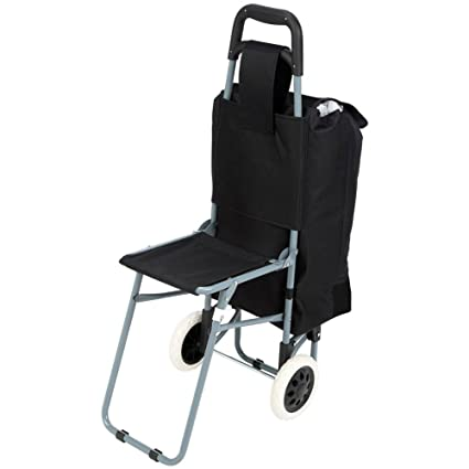 Remarkable Maxam Trolley Bag With Folding Chair Black Pdpeps Interior Chair Design Pdpepsorg