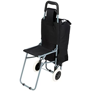 Bon Maxam 2 Compartment Trolley Bag With Folding Chair