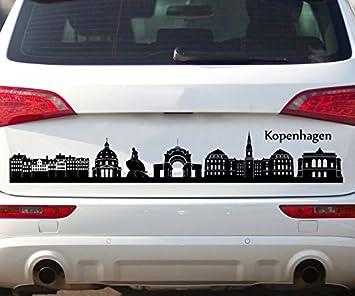 Autoaufkleber Kopenhagen Skyline Car Sticker Auto Tuning