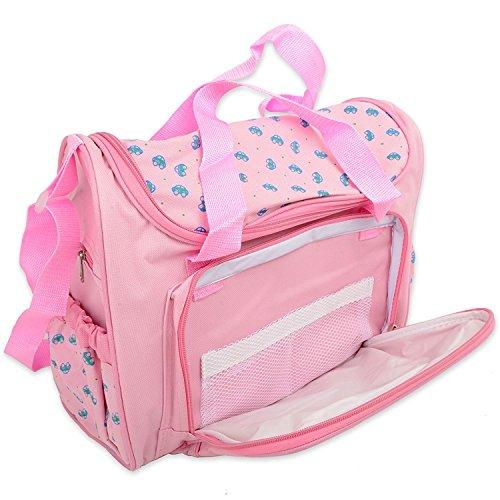 Bebé bolsas multifunción bebé pañal pañales bolsa/momia Cambio bolso de mano Set 4pcs GN empresas azul azul marino rosa