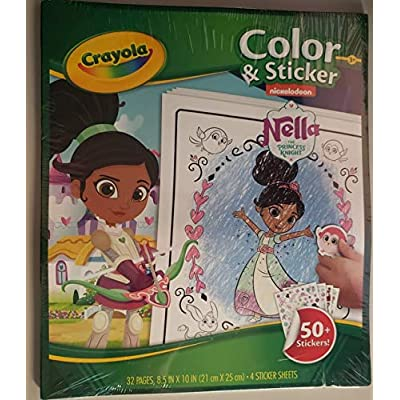 Crayola 04-0480-E-000 Nella The Princess Knight Colour and Sticker Book: Toys & Games