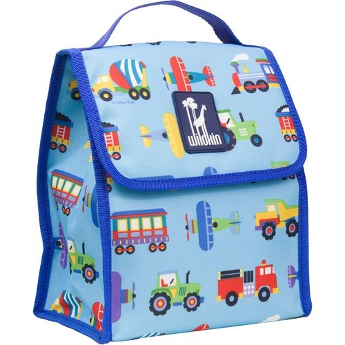 Wildkin Lunch Bag, Trains Planes & Trucks