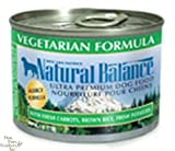 Natural Balance Canned Dog Food, Vegetarian Recipe, 12 x 6 Ounce Pack, My Pet Supplies