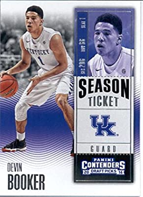 2016-17 Panini Contenders Draft Picks #29 Devin Booker Kentucky Wildcats Basketball Card in Protective Screwdown Display Case