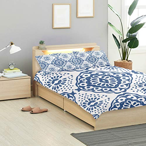 - CANCAKA Ikat Duvet Cover Set Ikat Pattern Tie Dye Design Bedding Decoration Twin XL Size 3 PC Sets 1 Duvets Covers with 2 Pillowcase Microfiber Bedding Set Bedroom Decor Accessories