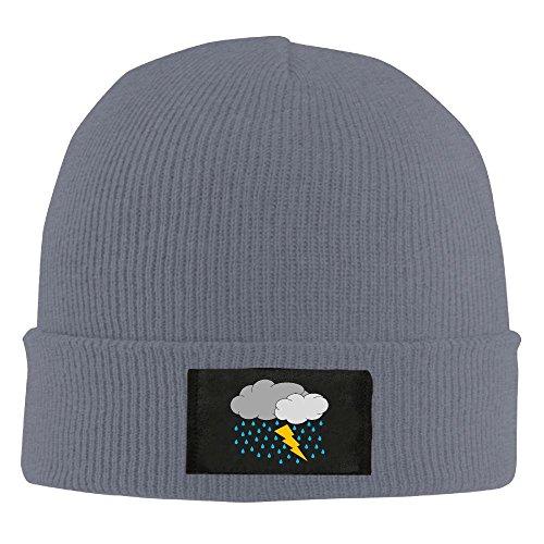 AMY WILDER Thunderstorm Cap Winter Knitting Warm Watch Hat Beanie Skull Cap For Unisex Asphalt One Size Fit All