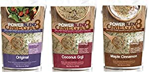 PowerBlend Nutrition 3 Piece Omega 3 Variety Pack 8 oz (Variety)