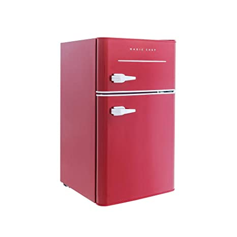 4dfffab9d90 Image Unavailable. Image not available for. Color  Magic Chef Retro Mini  Refrigerator 3.2 cu. ft. 2-Door Fridge in Red