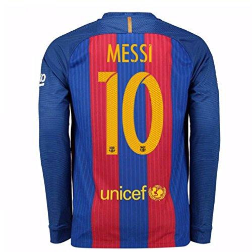 2016-17 Barcelona Home Long Sleeve Shirt (Messi 10) Barcelona Home Long Sleeve