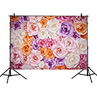 Allenjoy 7x5ft Photography Backdrop 3D color paper flower wall gorgeous wedding baby shower Beautiful bride shower background props photocall photobooth photo studio
