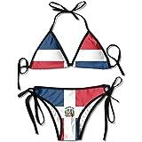 Bandera de la República Dominicana Bikini Sexy de Boxeo Mujeres Halterneck Top y Conjunto Trajes de baño Playa Natación: Amazon.es: Ropa y accesorios