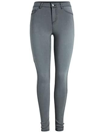 7a0887592052b0 Pieces Shape-Up Jeggings In Grey Denim XL: Amazon.co.uk: Clothing