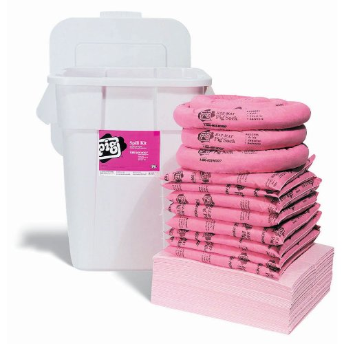 New Pig KIT307-01 91 Piece HazMat Spill Kit in Economy Container, 34 Gallon Absorbency