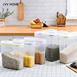 LVV Home Cartridge-Style Sealed Storage Tank/Seal Ring Bottom Thickened Scale Design iscellaneous Grains Storage Box