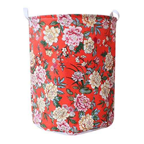 Libison Storage Basket, Home Storage Dirty Clothes Bucket Waterproof Canvas Laundry Case Clothes Basket Storage Basket Folding Storage Box, Cotton and Linen, Lightweight, Durable and Portable. - Eco Foam Roller