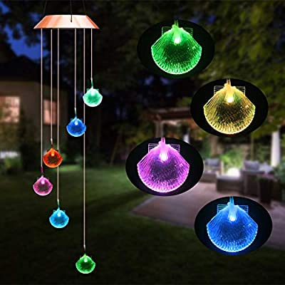 Beinhome Solar Wind Chime Color Changing LED Light Waterproof Solar Powered Mobiles for Home, Garden, Party, Balcony, Festivel Decoration