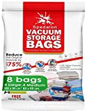 Vacuum Storage Bags - Pack of 8 - 4 Large (40x31) + 4