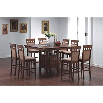 Amazon Com 9pcs Counter Height Dining Table With Lazy