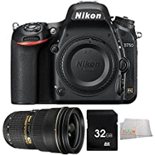 Nikon D750 FX-format DSLR Camera Body (1543) - International Version (No Warranty) + Nikon 24-70mm f/2.8G ED AF-S Nikkor Lens + 32GB Memory Card + MORE