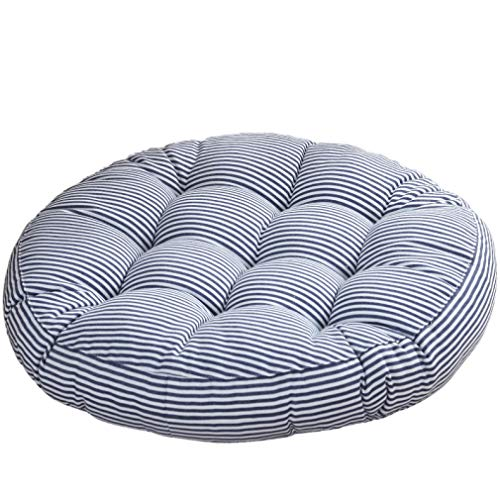 Round Futon Cotton Linen Striped Cushion Dining Chair Seat Pillow Corduroy Tatami Mat Pad Chair Gift