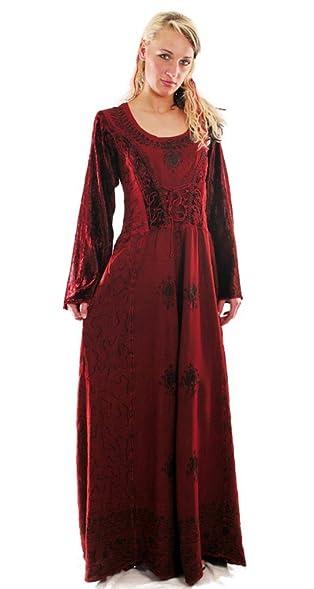 Bäres Tageskleidung - Damen Langes Gothic Kleid Eire Einheitsgrösse/schwarz