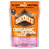 SKOUT BACKCOUNTRY Organic Roasted Pumpkin Seeds – Pink Himalayan Sea Salt -Pepitas With No Shell- Vegan, Low Carb Snacks -Paleo & Keto Foods- Gluten Free-Non-GMO-Kosher -Grown in USA- 2.2 oz (6 Count) Review