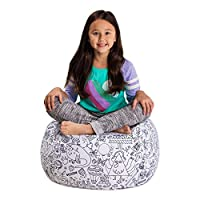 Posh Stuffable Kids Stuffed Animal Storage Bean Bag Chair Cover