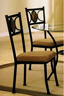 Amazoncom Hillsdale Lakeview Dining Chairs Slate and Metal