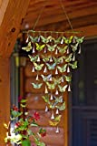 WIND CHIMES - BUTTERFLY WIND CHIME WITH SHIMMERING BELLS - BUTTERFLY WALL ART