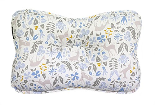 Baby Pillow for Newborn Breathable 3D Air Net Organic Cotton, Protection for Flat Head Syndrome Bambi Blue Limited Edition