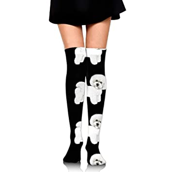 RGFJJE Calcetines Altos Bichon Frise Upgraded Knee High Graduated Compression Socks for Women and Men -
