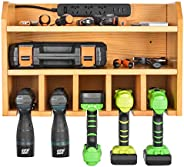 Power Tool Organizer, Sunix Power Tool Charging Station Drill Wall Holder Wall Mount Tools Garage Storage (Pow
