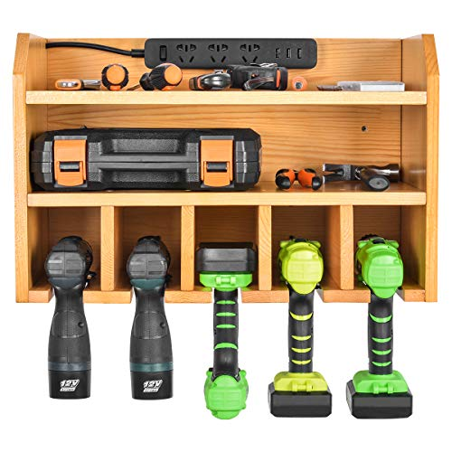 (Power Tool Organizer, Sunix Power Tool Charging Station Drill Wall Holder Wall Mount Tools Garage Storage (Power Strip is Not Included))