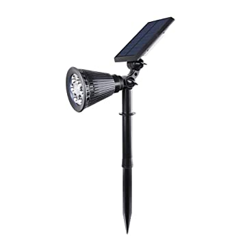 YUN Solar Light@ Lamparas Solares 600 Lumens Ultra Potente 6 LED Apliques De Pared,