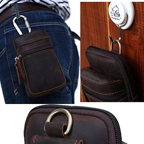 Phone Hommes Mouvement Petite Véritable Modelshow Télé Mini Cuir Echelle Taille Sacs Paquet 6vqaYwU